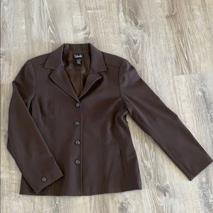 Women's chocolate brown Rafaella dress blazer